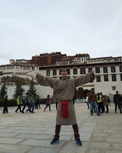 Johnny Ward in Tibet