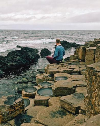 Johnny Ward at the Giant's Causeway, County Antrim, Northern Ireland